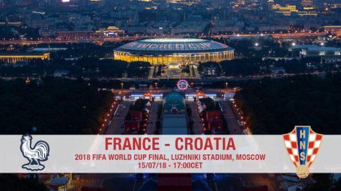 ฝรั่งเศส โครเอเชีย ดูบอลโลก 2018 นัดชิง
